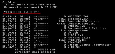 Консольные команды DOS